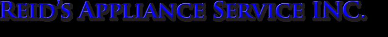 Reid's Appliance Service INC.